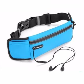 Bang Waterproof Adjustable Nylon Lycra Belt Jogging Belt Runningwaist Bag - intl