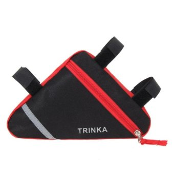 Bang Waterproof Cycling Triangle Pouch Saddle Bag(Red) - intl