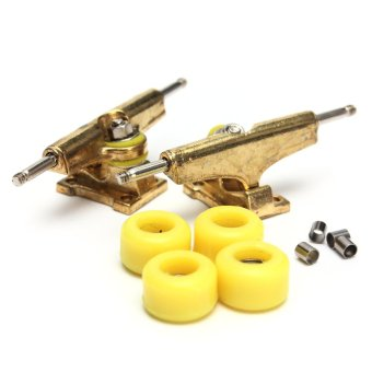 Basic Complete Wooden Fingerboard Finger Scooter with Bearing Grit Box Foam Tape - intl