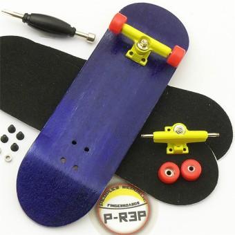 Basic Complete Wooden Fingerboard Finger Scooter with Bearing Grit Box Foam Tape Purple - intl