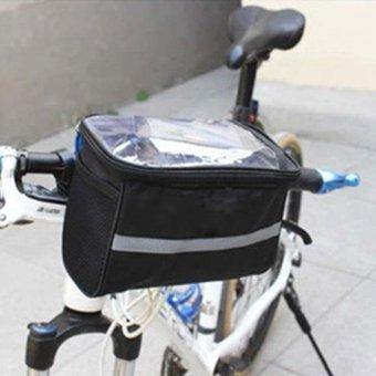 Bicycle Bike Cycling Front Basket Frame Pannier Tube Handlebar RackBag