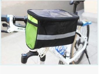 Bike Bicycle Bags Mountain Bike Front Pannier Tube Handlebar Bag Pouch Basket for Outdoor Activities Color:Green Size:Green - intl
