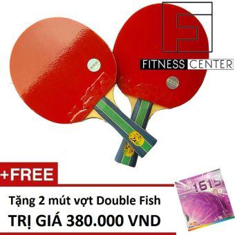 Bộ 2 Vợt bóng bàn Double Fish 2AC + Tặng 2 mút vợt Double Fish