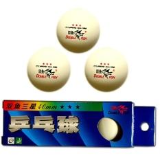Ở đâu bán Bộ 3 trái banh bóng bàn 3 sao Double Fish-B07 (Trắng)