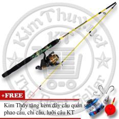Bộ Cần câu cá 2 khúc Ruột đặc 1m5 (*Kim Thủy) KT A1 Yellow