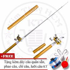 Bộ cần câu cá du lịch (*Kim Thủy) KT Mini M2 Gold 100cm