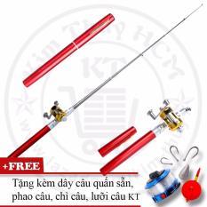 Bộ cần câu cá du lịch (*Kim Thủy) KT Mini M2 Red 100cm