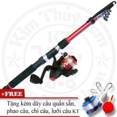Bộ cần câu cá tiện dụng (*Kim Thủy) KT Red 3.0M