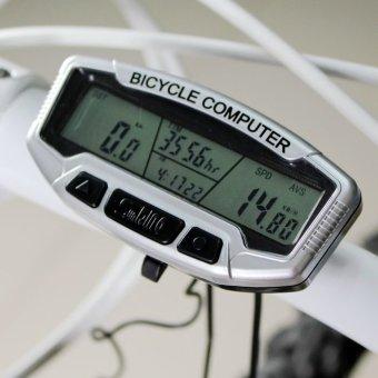 Đồng hồ xe đạp đa chức năng SunDing 558A SPE-6058(Bạc)
