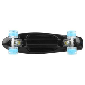 "Enkeeo Kids Youths 22"" Penny Style Skateboard Long Board Plastic Stakeboard Gift Black - intl"