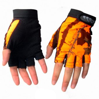Fingerless Gloves Breathable Antiskid Fishing Gloves Outdoor Waterproof Sun Protection Gloves - intl