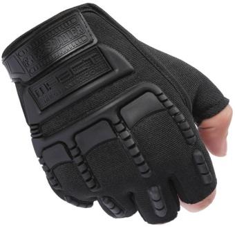 Giá bán Găng tay bao vệ tay phượt thủ Nữa ngón – Quốc tế – Đen