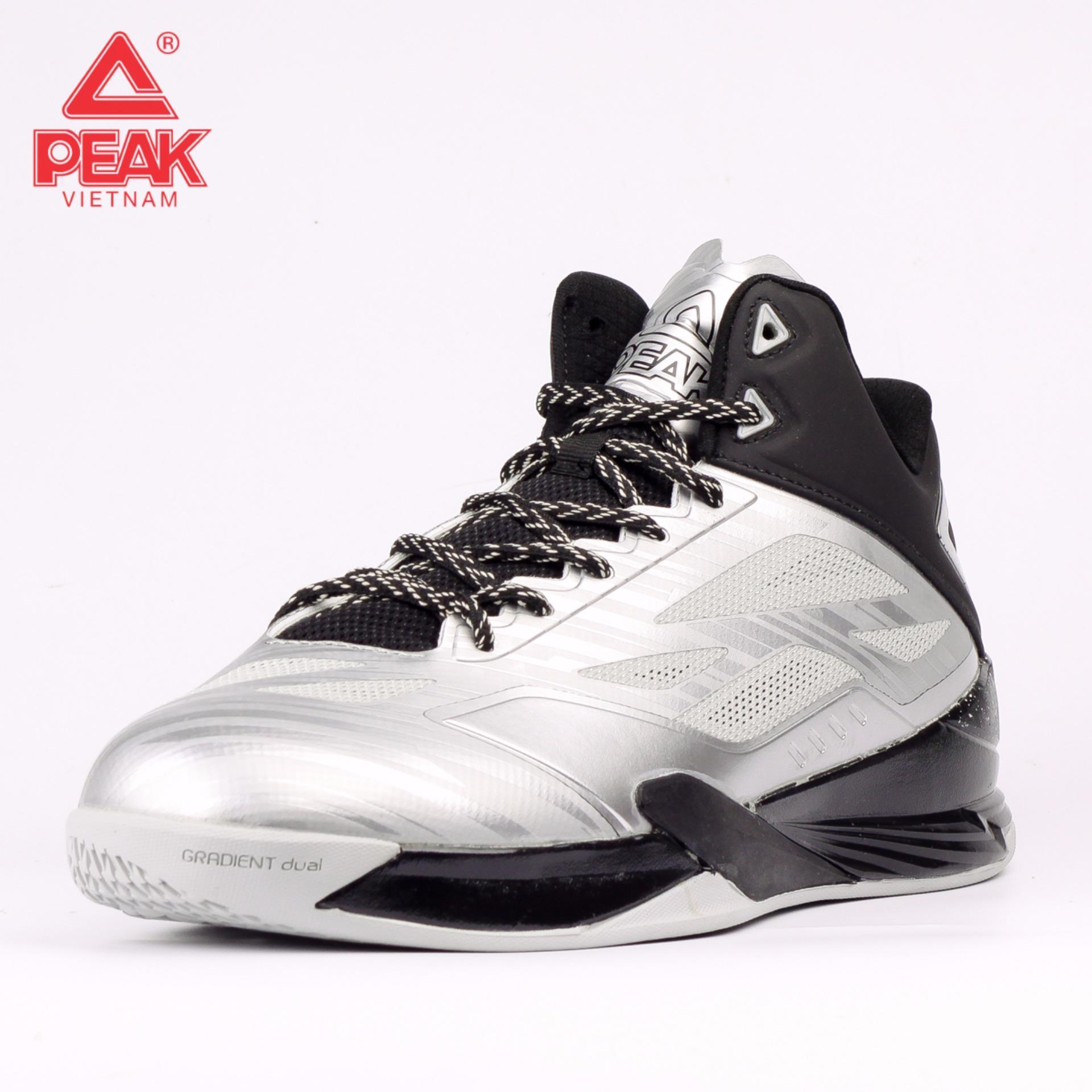 Giày thể thao bóng rổ nam Peak Lightning IV E61053A – Bạc Đen