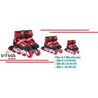 Giày Trượt Patin Cao Cấp Gắn Đinh Phát Sáng Bánh ( SIZE L ) - VIVA SPORT  ( TẶNG CON QUAY SPINNER & THÁP EIFFEL CAO CẤP )