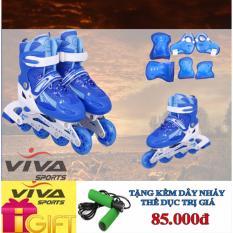 Giày Trượt Patin Cao Cấp (SIZE L) & Đồ Bảo Hộ - VIVA SPORT ( TẶNG 1 DÂY NHẢY )