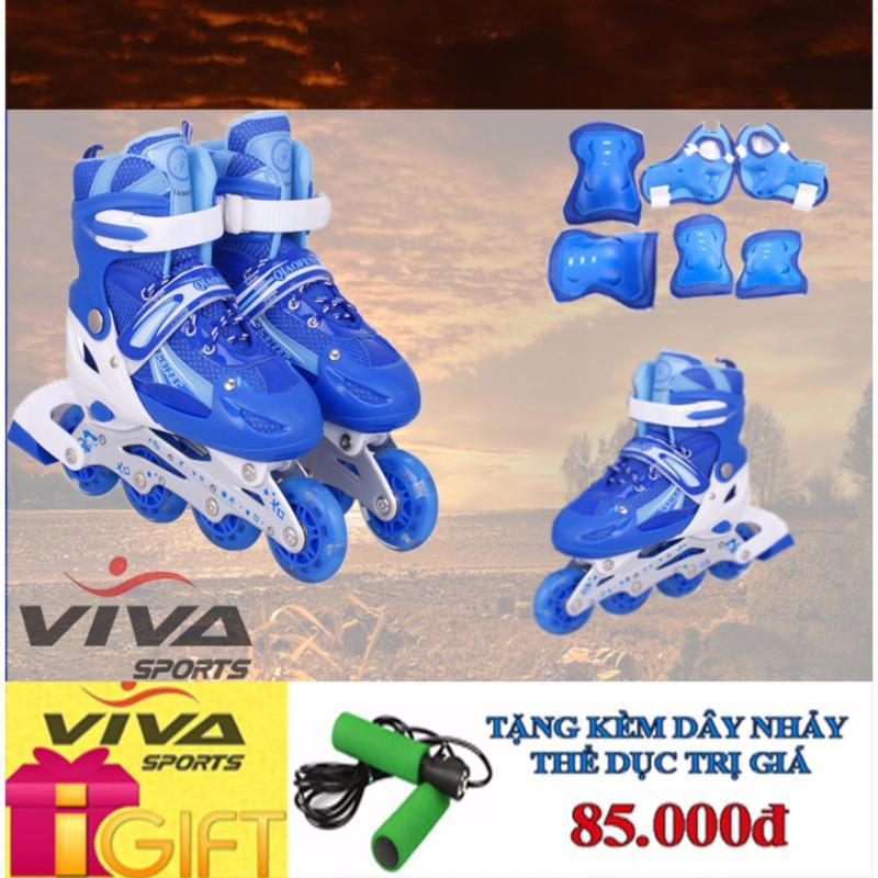 Phân phối Giày Trượt Patin Cao Cấp (SIZE L) & Đồ Bảo Hộ - VIVA SPORT ( TẶNG 1 DÂY NHẢY )
