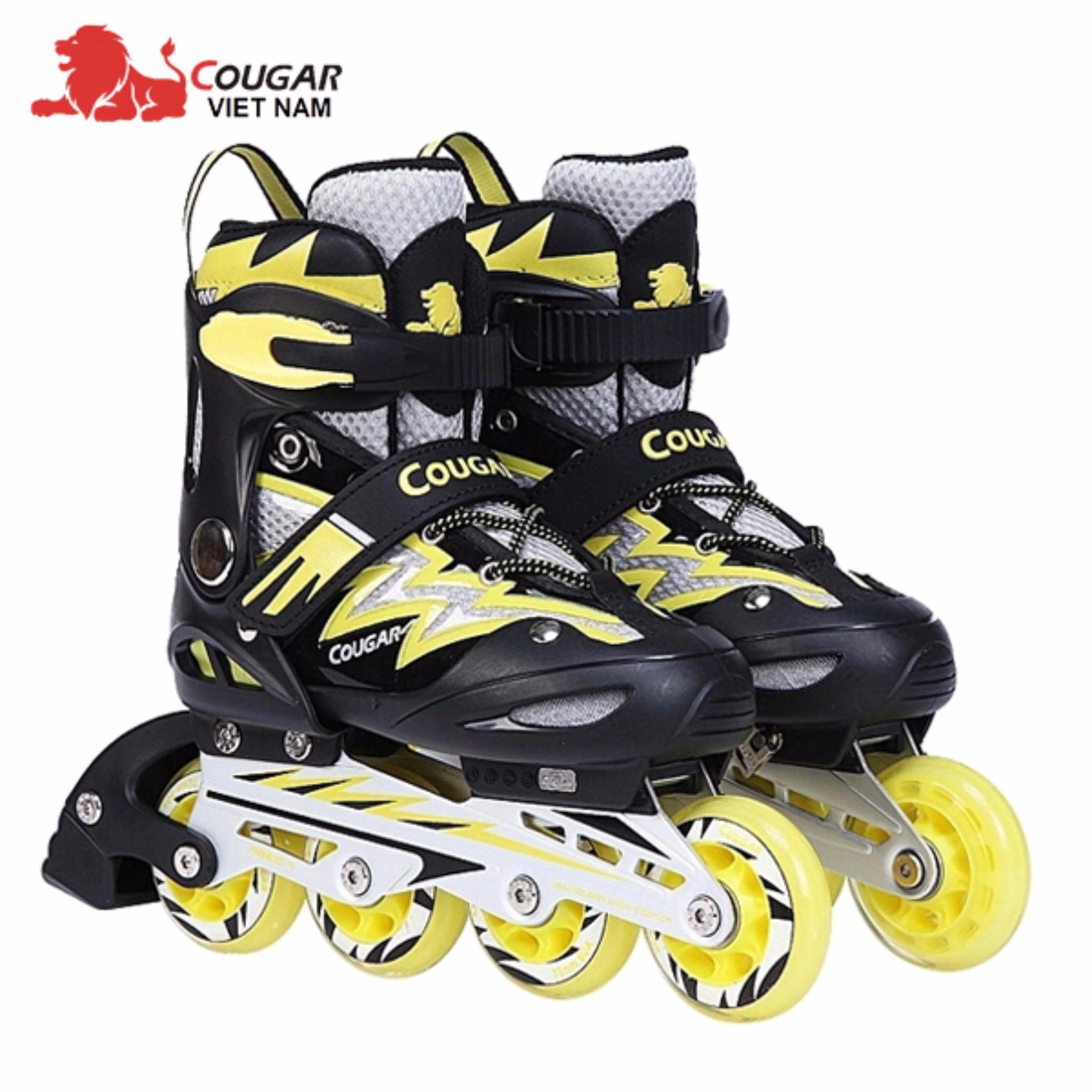 Giầy trượt Patin có đèn 835LSG màu Vàng đen - thể thao