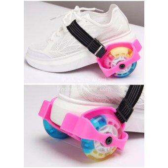 Giày trượt patin phát sáng 2 bánh thế hệ mới + Tặng 1 túi dây rút để đồ tập cao cấp MLS-83
