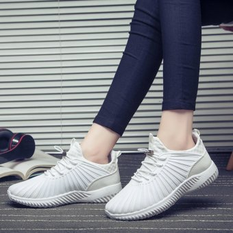 HengSong Fashion Breathable Mesh Sports Shoes Couples CasualShoes(White) - intl