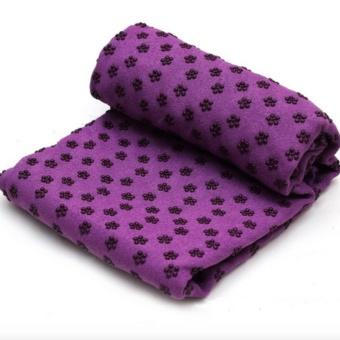 Khăn trải thảm yoga Ribobi có kèm túi đựng - Tím