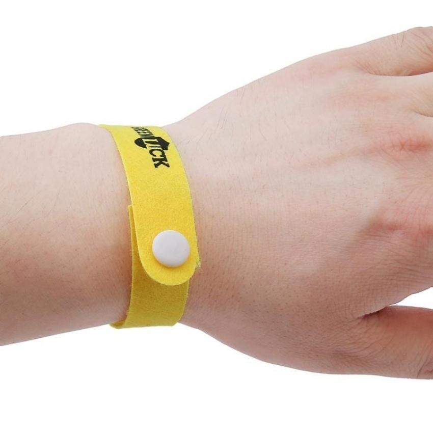 Hình ảnh LALANG 10pcs Pure Natural Mosquito Repellent Wristbands (Yellow) - intl