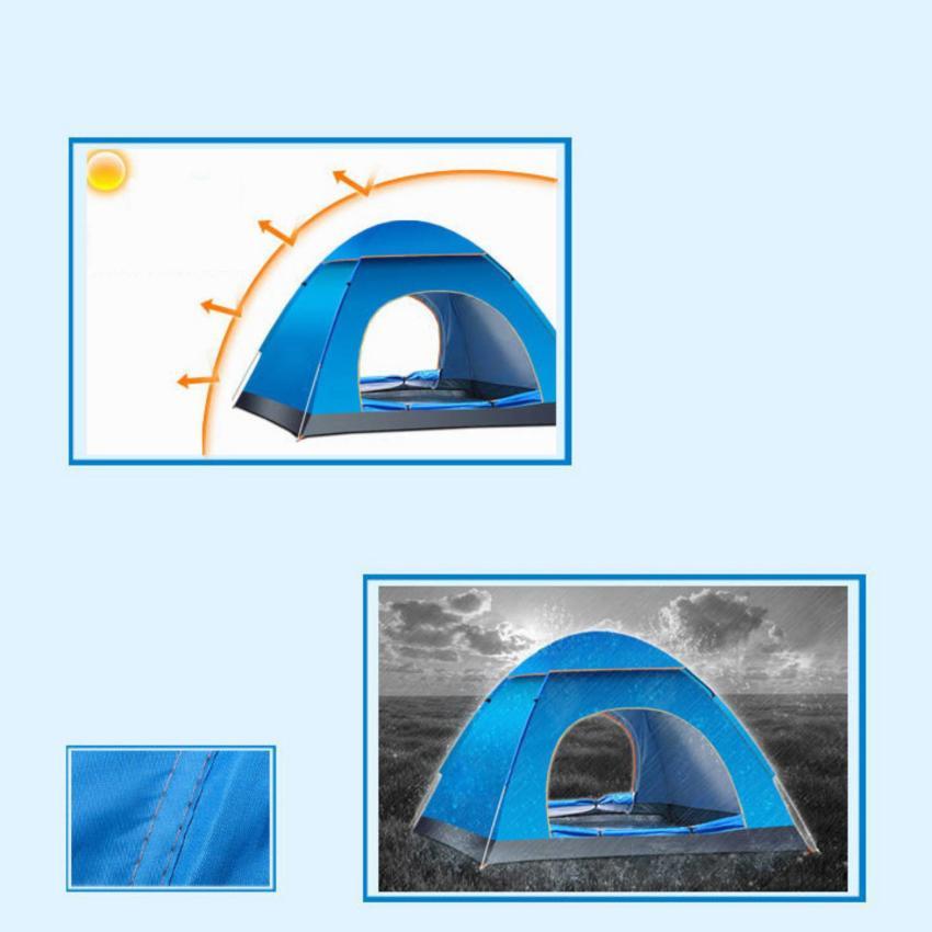 Lều Cắm Trại 4 Người Loại Tốt 200 x 200 x 130 cm