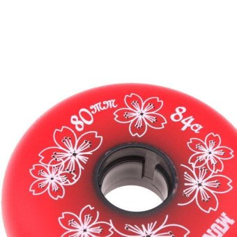 MagiDeal 4 Pieces Inline Roller Hockey Fitness Skate Replacement Wheel 84A 80mm Red - intl
