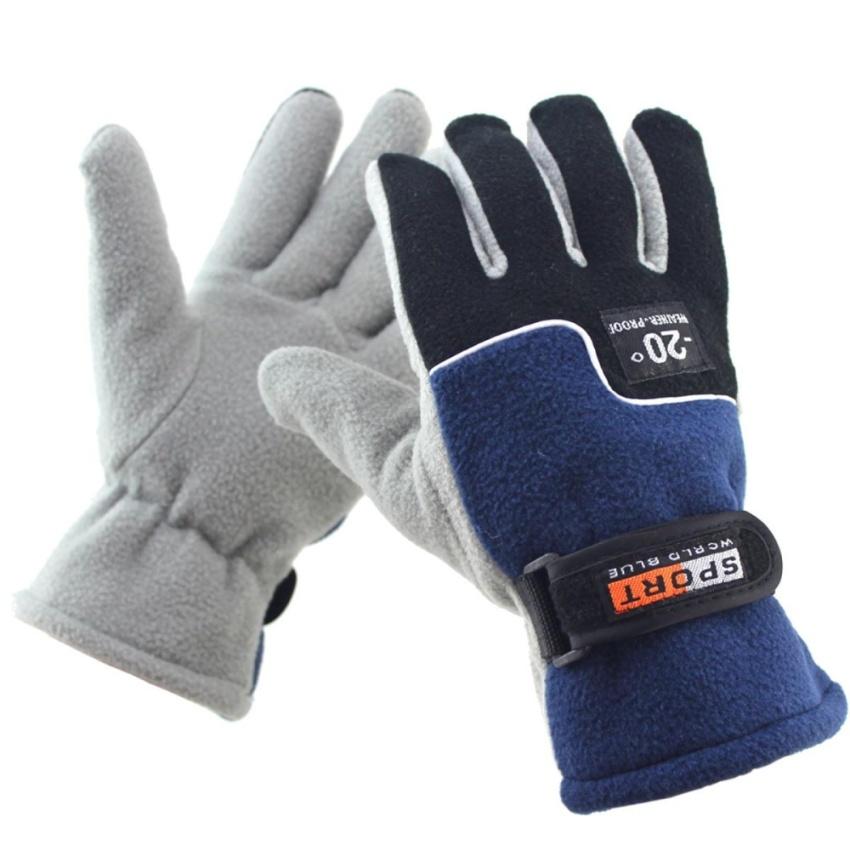 Hình ảnh Mens Thermal Winter Warm Motorcycle Outdoor Sports Gloves Black - intl