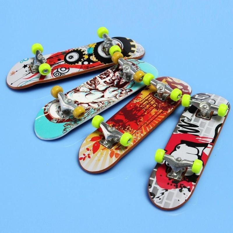 Giá bán Moonar 2PCS Cool Punk Pattern Finger Skateboard Mini Skateboard - intl