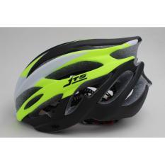 Mũ bảo hiểm xe đạp size L mã JTS-124 ( trắng/xanh lá )