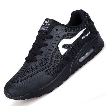 PINSV Air Men Breathable Sport Shoes Running Shoes (Blakc) -intl
