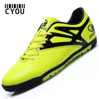 New Men Soccer Shoes Outdoor TF Football Boots (Green) - intl