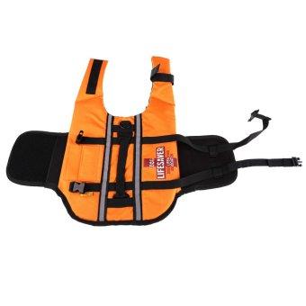 Orange Dog Pet Float Life Vest Jacket Aquatic Safety SwimmingBoating M - INTL