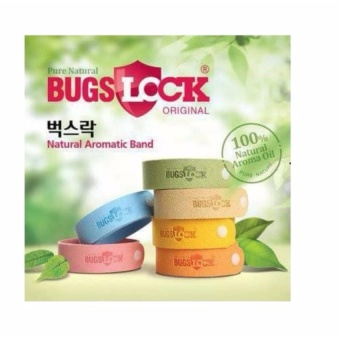 Original BUGSLOCK Anti Mosquito Bug Repellent Wrist BandBraceletInsect( Multiple Colors ) - intl