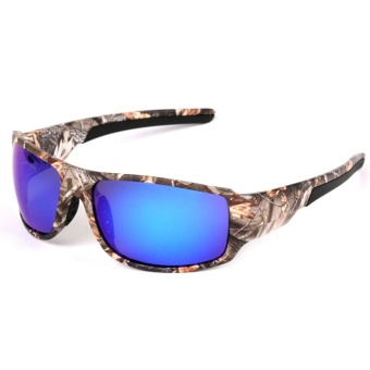 Outdoor Sport Sunglasses with Camouflage Frame Polaroid Glasses for Men