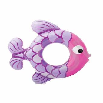 Phao tròn Intex hình cá tím kích thước 77 x 76 cm dùng cho bé từ 3đến 6 tuổi