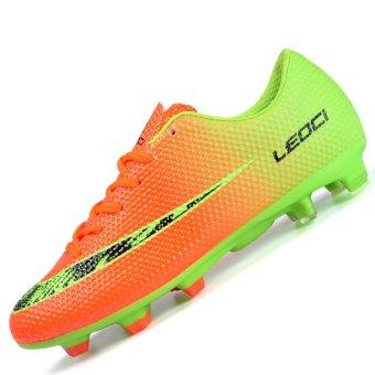 PINSV Men s Outdoor Football Shoes Boots Spike Soccer Shoes(Orange) - intl 1b11e7f0e9