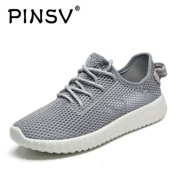 PINSV Mesh Women Breathable Casual Running Shoes (Grey) - intl