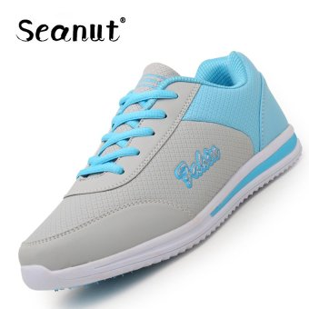 Seanut Woman Breathable Casual Shoes Sports Shoes (Grey/Blue) -intl