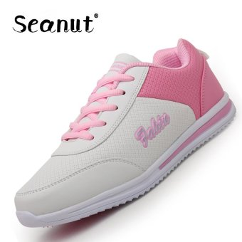 Seanut Woman Breathable Casual Shoes Sports Shoes (White/Pink) -intl