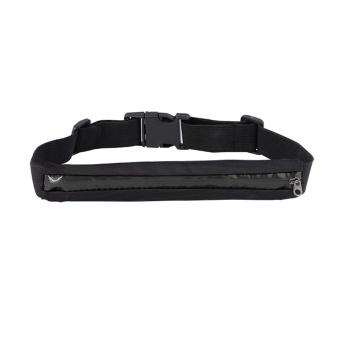 Sports Outdoors Running Belts Portable Waterproof Single Zipper Outdoor Sports Running Cell Phone Waist Bags Wallet Purse(Black) - intl