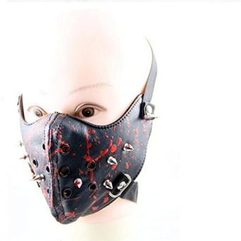 Sprinkler rivets Halley Mask Rock Non-mainstream Mask Black - intl