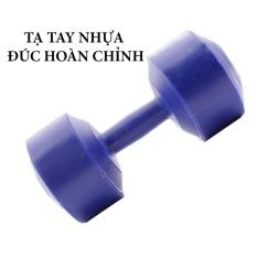 Tạ tay nhựa đúc hoàn chỉnh 8kg (Xanh dương)