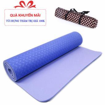 Thảm tập yoga cao cấp TPE 8mm + Tặng túi đựng thời trang