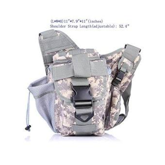 Túi xách ngoài trời, JSH1508 Túi quân đội Tatical Molle Camouflage Du lịch Thể thao Túi cắm Cắm trại Tản bộ Đàn ông Phụ nữ Camera Climbing Back Pack - intl