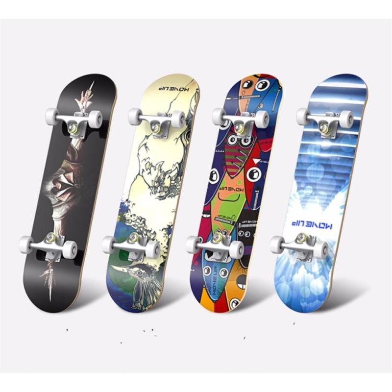 Ván trượt người lớn Skateboard cao cấp (mặt nhám bánh cao su)