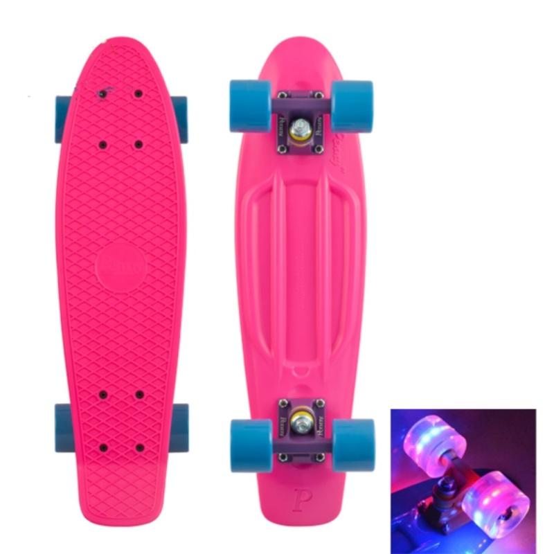 Ván trượt nhựa Skateboard Penny cỡ lớn bánh xe có đèn