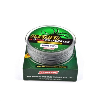 WWang 100M 1.5# 0.2mm Super Strong PE Braided Fishing Line 20LBGray- intl