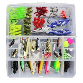 WWang 100pcs Fishing Lure Set Kit Soft and Hard Lure Baits Tackle -intl