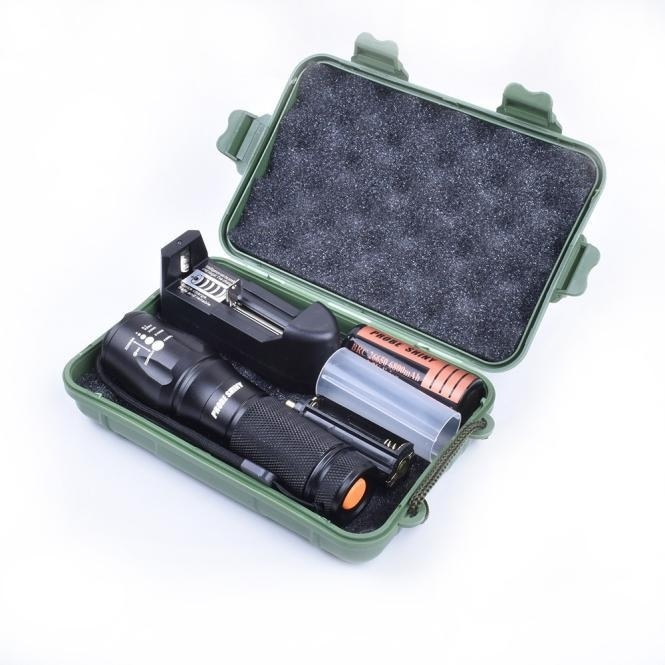 X800 Zoomable XML T6 LED Tactical Flashlight+26650 Battery+Charger+Case - intl